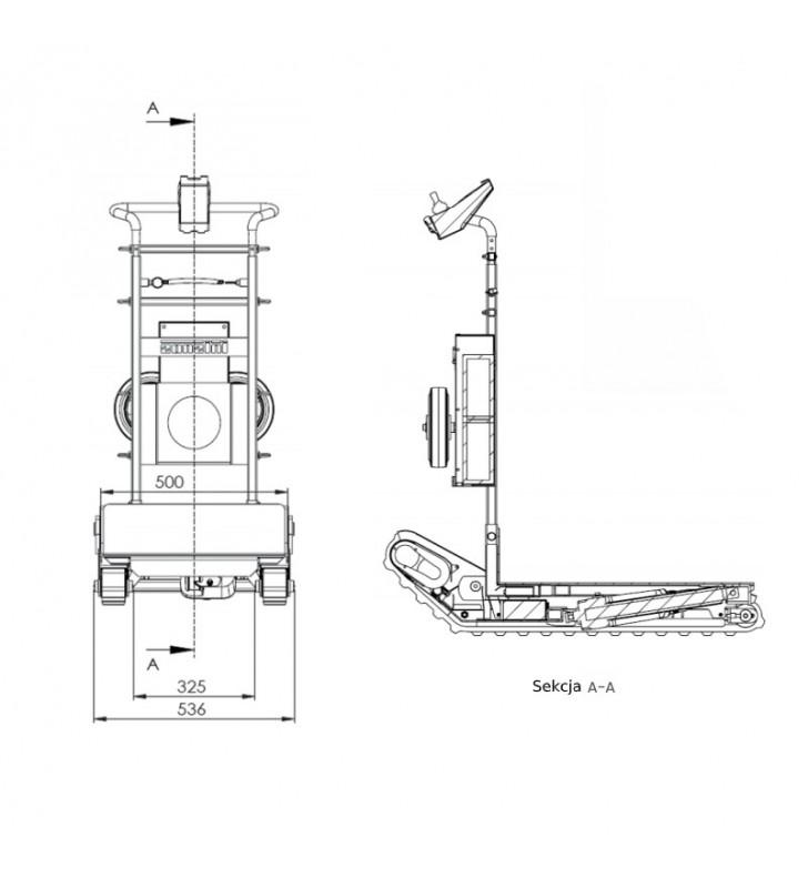 Schodołaz towarowy ZONZINI DOMINO AUTOMATIC 160kg